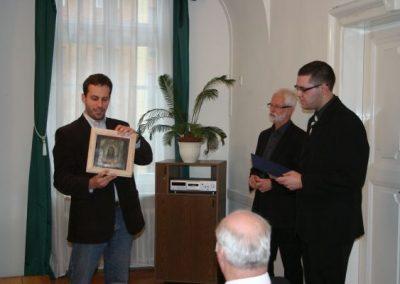 Sinkó-díj átadás, Gebauer Szabolcs a kerámiaikonnal