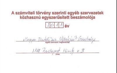 Magyar Katolikus Újságírók Szövetsége közhasznúsági beszámolója – 2011