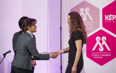 Vándor Éva kapta a Családbarát Médiáért díjat