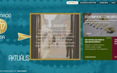 Elindult a református egyházak jubileumi honlapja